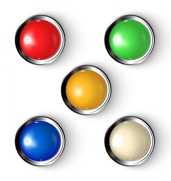 Botões com indicador. Vetor Premium