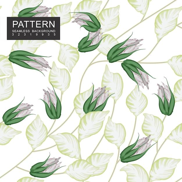 Botões crescentes com folhas e ramos esverdeados claros Vetor Premium