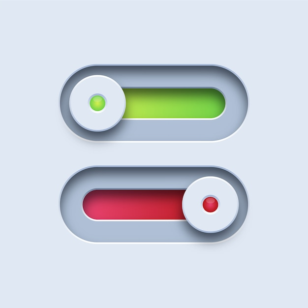 Botões de ligar e desligar Vetor Premium