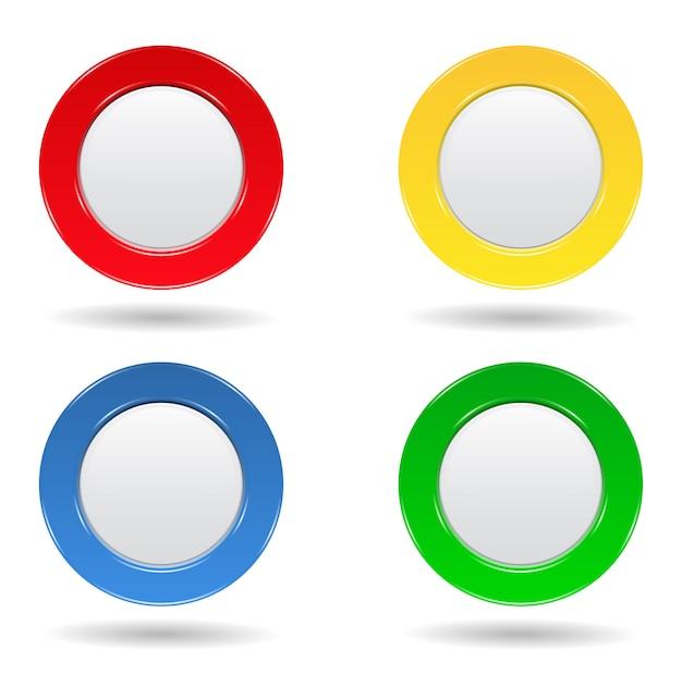 Botões redondos Vetor Premium