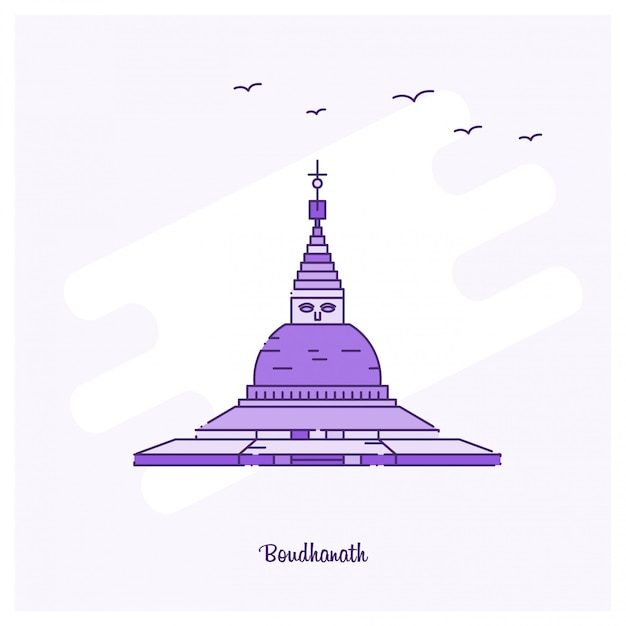 Boudhanath landmark Vetor grátis