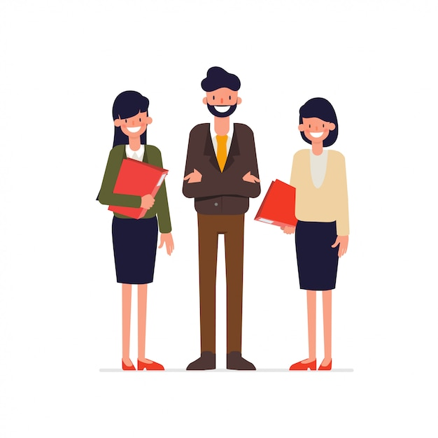Brainstorming negócios em equipe corporativa. Vetor Premium