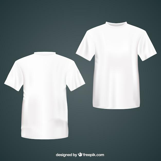 Branco camiseta Vetor grátis