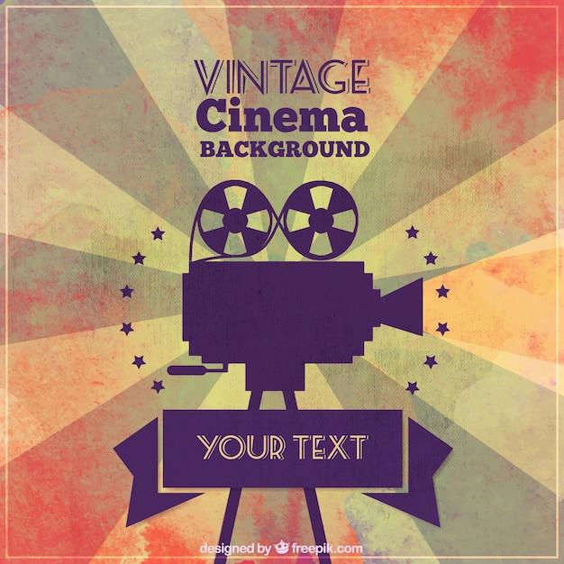 Branco cinema vintage Vetor grátis