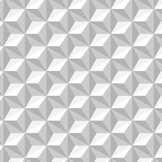 Branco e cinza padrão sem emenda com fundo de hexágonos Vetor grátis