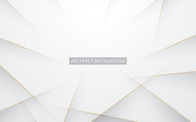 Branco elegante com linha dourada Vetor Premium