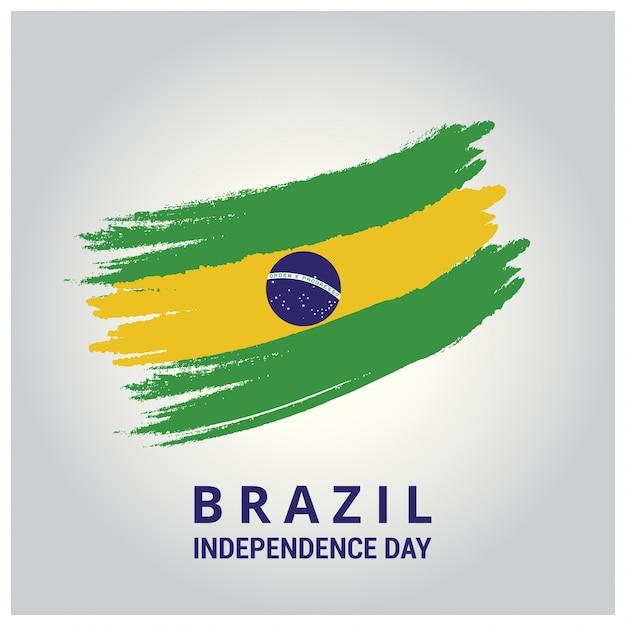 Brasil bandeira do país no escova curso abstrato Vetor grátis