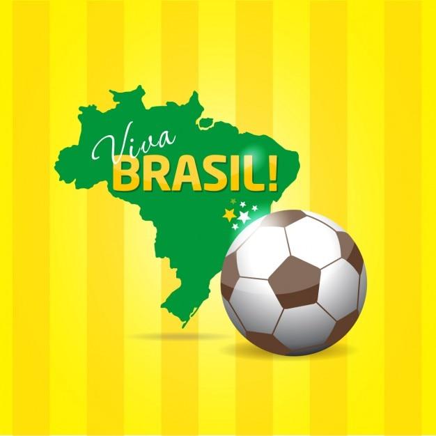 Brasil fundo Vetor grátis