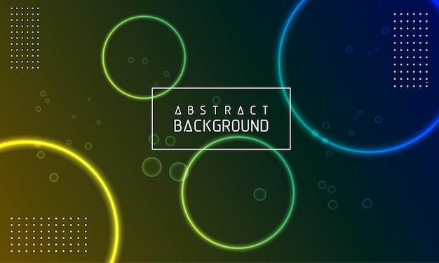 Brilhante, círculo, abstratos, modernos, fundo Vetor Premium