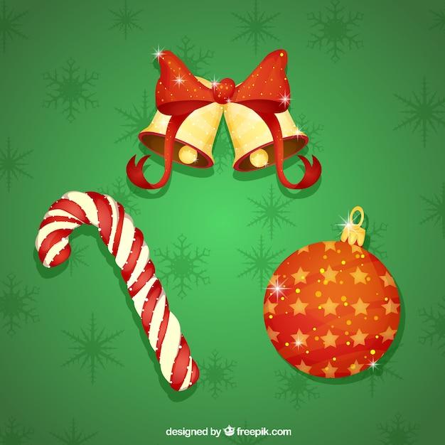 Brilhante decoração do natal Vetor grátis