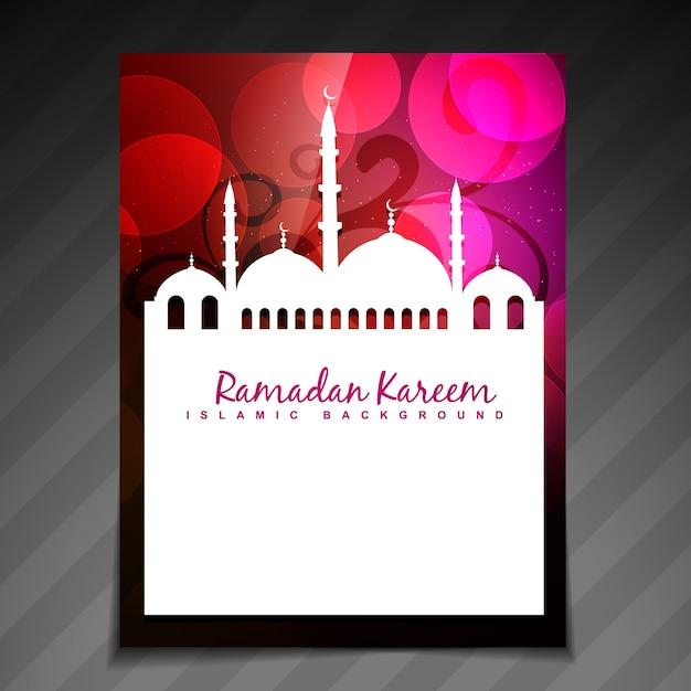 Brilhante e lindo modelo ramadan festival Vetor grátis