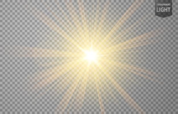Brilho de raios de ouro abstrato Vetor Premium