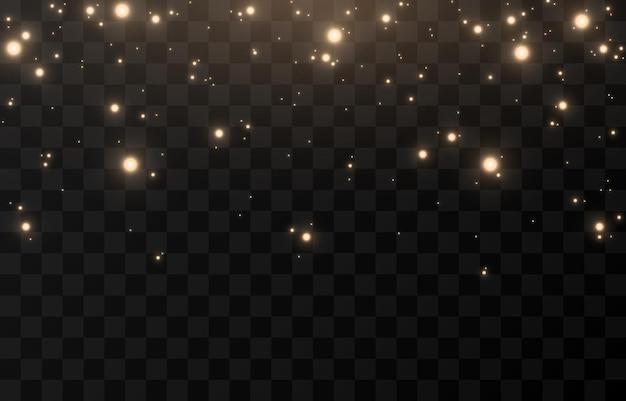Brilho mágico do vetor. luz cintilante, pó cintilante png. pó de fada brilhante. luz do céu. luz de natal. Vetor Premium