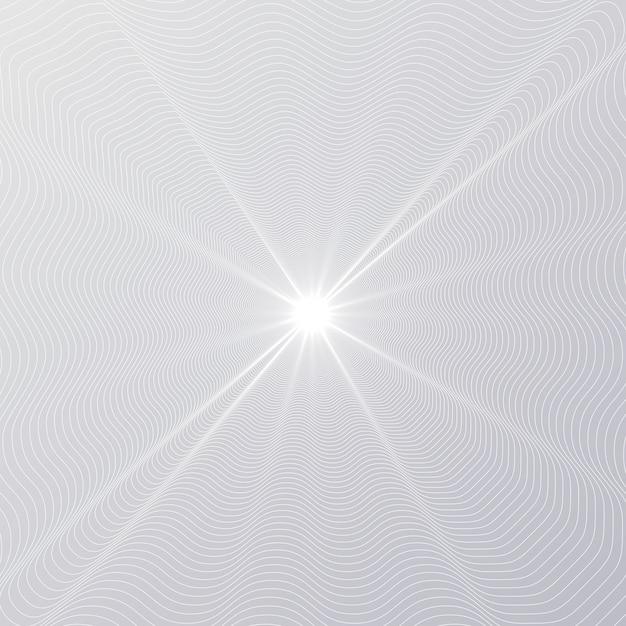 Brilho radial de linha Vetor Premium