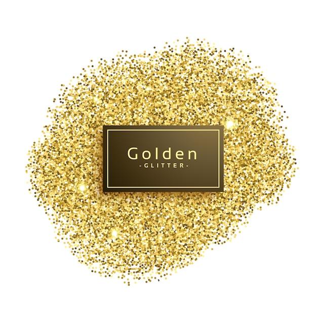 Brilhos do glitter do golde no fundo branco Vetor grátis