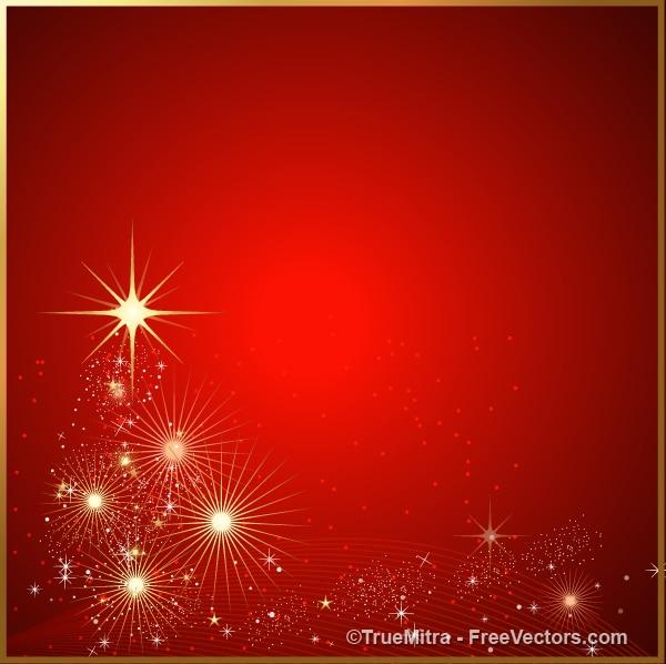 Brilhos vermelhos e estrelas de fundo abstrato Vetor grátis
