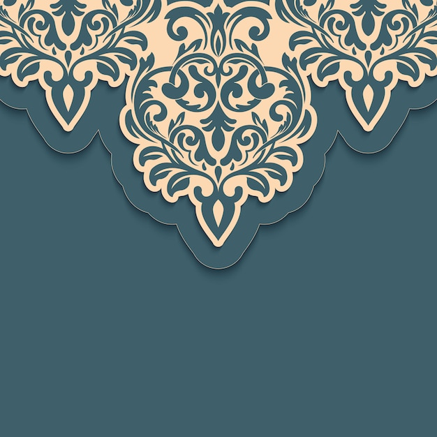 Brocado decorativo arabesco Vetor grátis