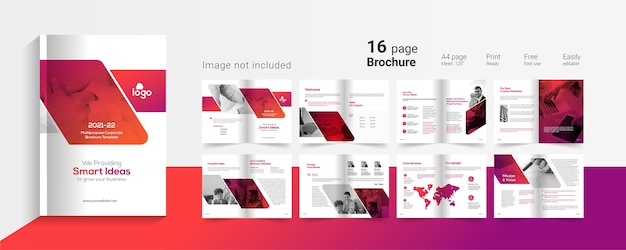 Brochura comercial Vetor Premium