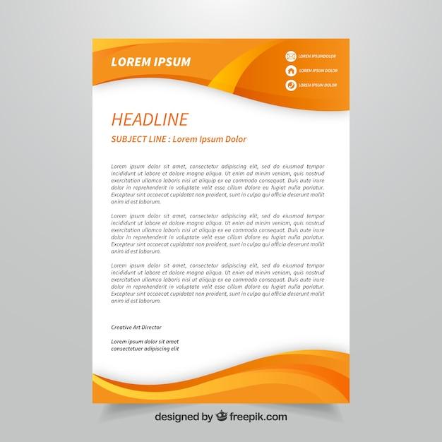 Brochura corporativa da orange com formas abstratas Vetor grátis