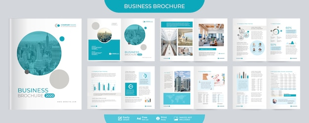 Brochura corporativa e modelo de proposta Vetor Premium