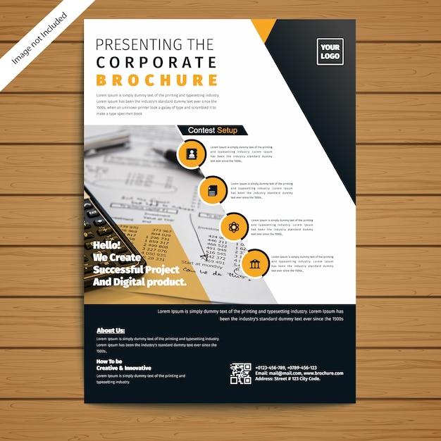 Brochura corporativa / modelo de folheto Vetor Premium