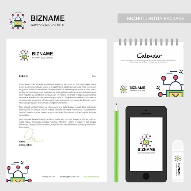 Brochura da empresa com o logotipo da empresa e design elegante Vetor Premium