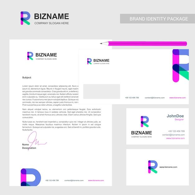 Brochura da empresa com o logotipo da empresa e design elegante Vetor grátis