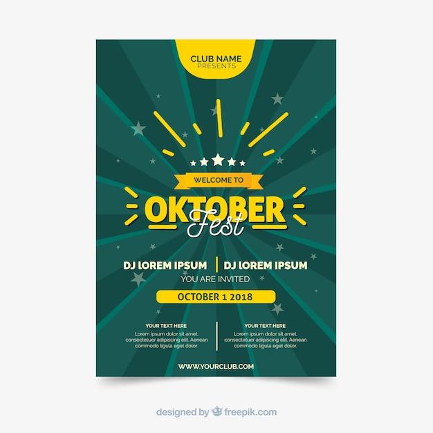 Brochura da oktoberfest Vetor grátis