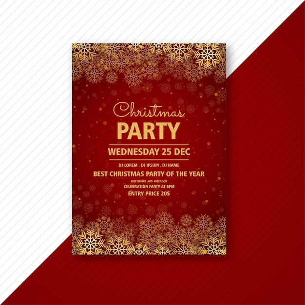 Brochura de cartão de modelo de panfleto de festa de natal Vetor grátis