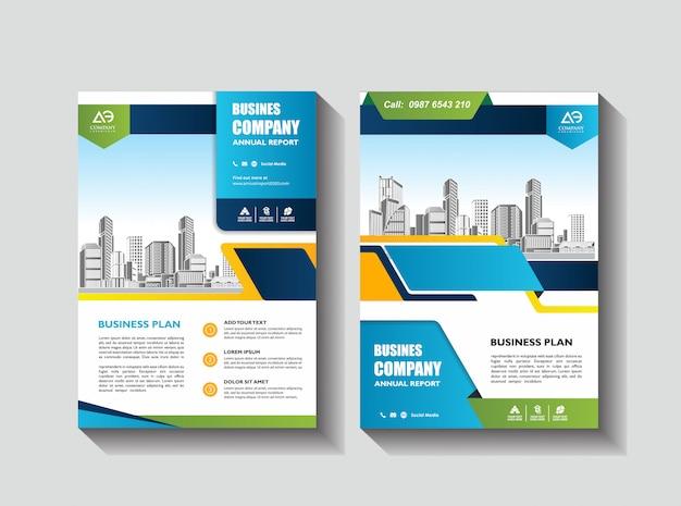 Brochura de layout de modelo de capa folheto de revista de relatório anual ou livreto em a4 Vetor Premium