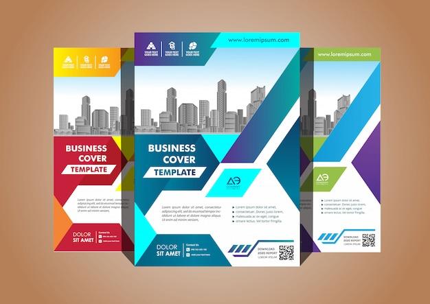 Brochura de layout simples folheto brochura de revista para plano de fundo Vetor Premium