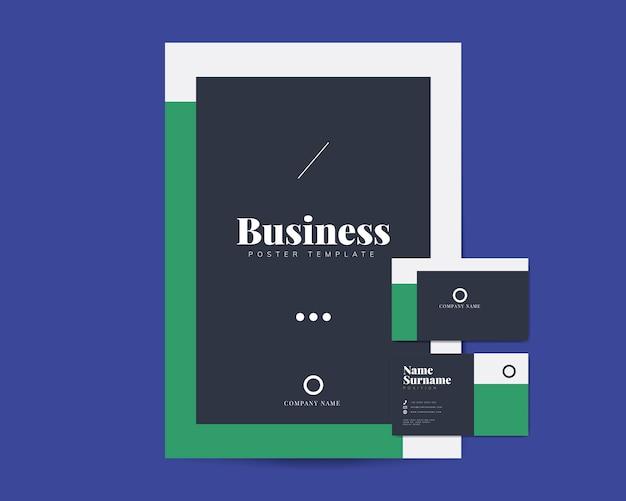 Brochura de negócios e modelos de cartão de nome Vetor grátis