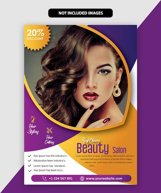 Brochura de salão Vetor Premium