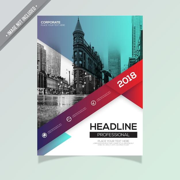 Brochura empresarial criativa Vetor grátis