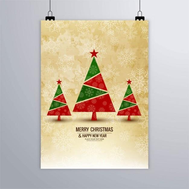 brochura Feliz Natal Vetor grátis