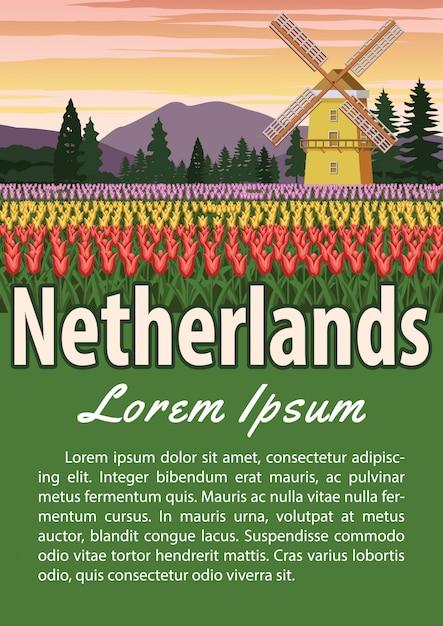 Brochura marco holandês Vetor Premium