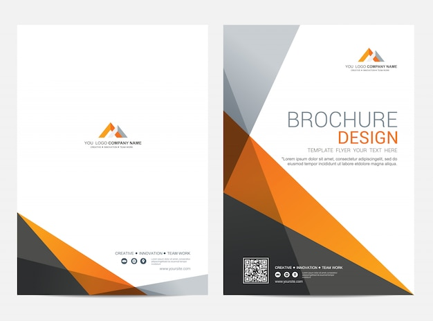 Brochura modelo flyer design vector fundo Vetor Premium