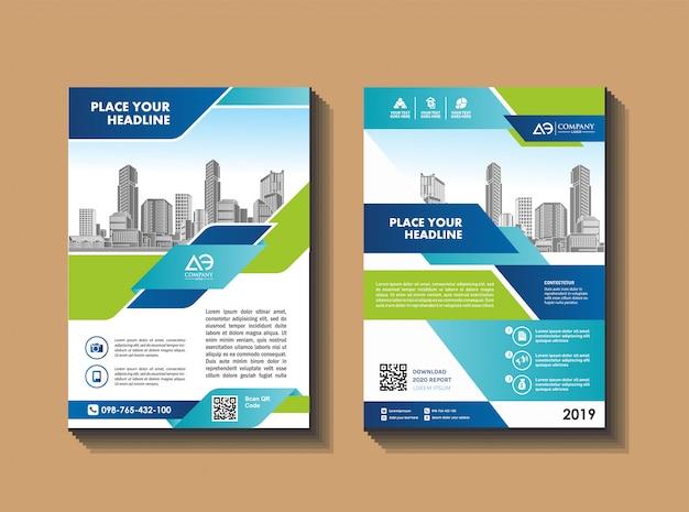 Brochura modelo layout capa design anual relatório revista Vetor Premium