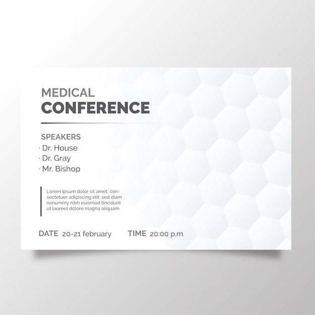 Brochura moderna de conferência médica Vetor grátis