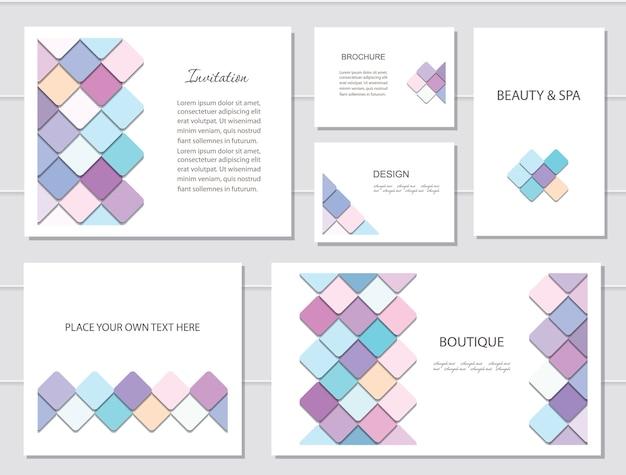 Brochuras, folhetos e modelos de cartão de visita. Vetor Premium