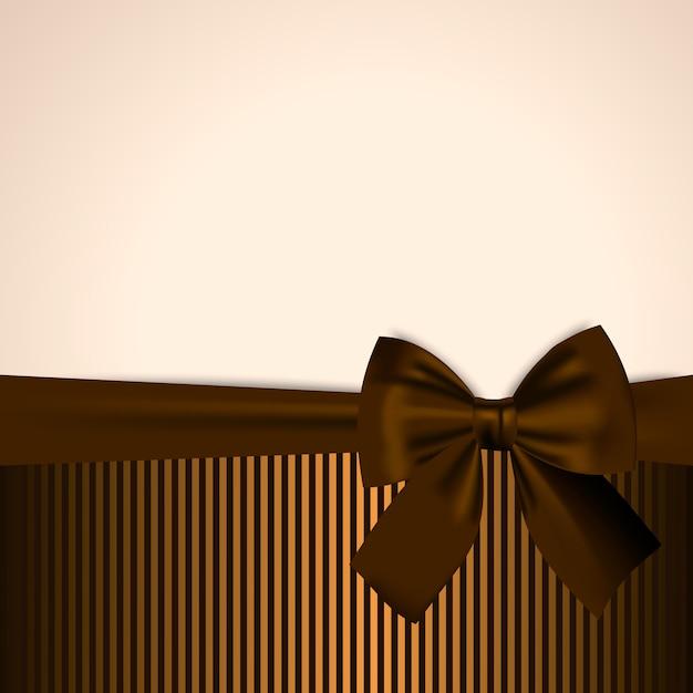 Brown e cartão postal dourado Vetor Premium