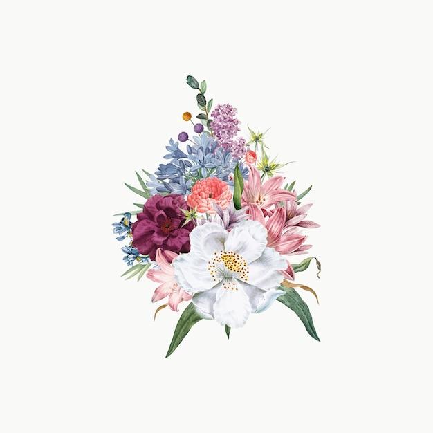 Buquê de flores de jasmim Vetor grátis