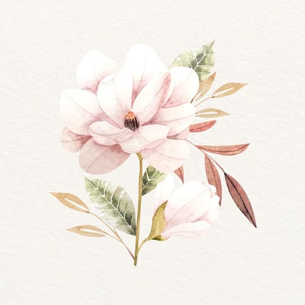 Buquê de flores em design vintage Vetor grátis