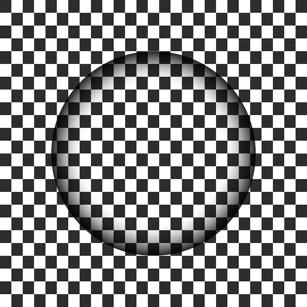Buraco de círculo transparente com borda embaçada Vetor Premium
