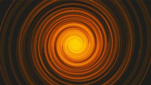Buraco negro em espiral em black galaxy background.planet e física. Vetor Premium