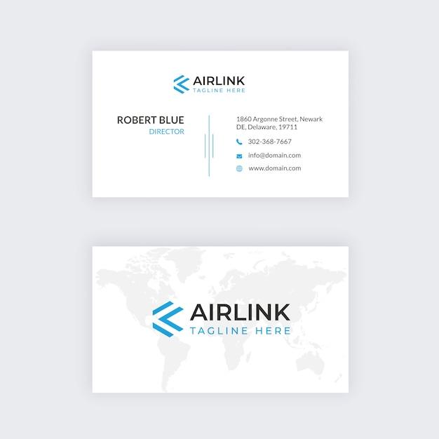 Business card profissional Vetor Premium