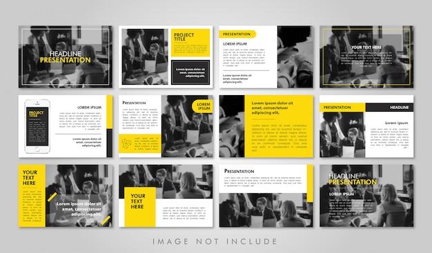 Business presentation pack printable Vetor Premium