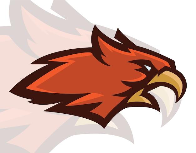 Cabeça de falcão mascote Vetor Premium
