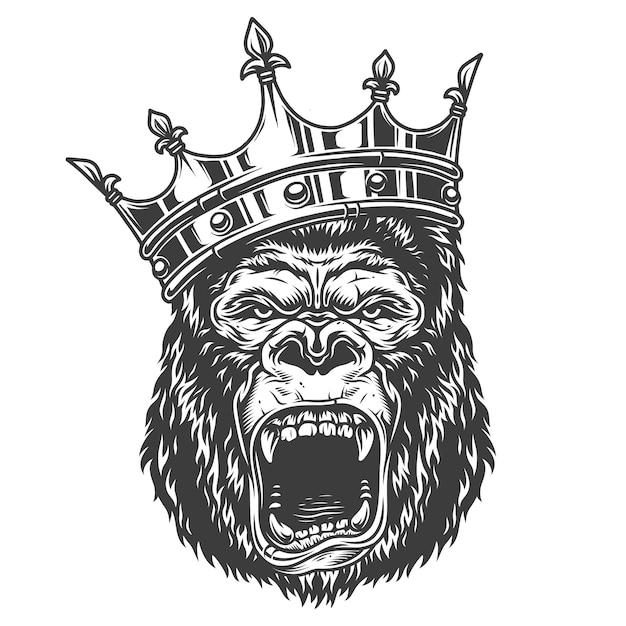 Cabeça de gorila Vetor grátis