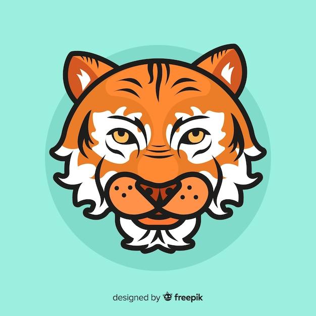 Cabeça de tigre Vetor grátis